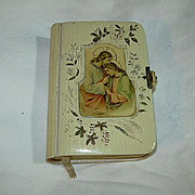 Old German Celluloid Cover Art Prayer Book