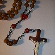 Rare Old Celluloid Catholic Rosary Unique Crucifix Fine Sacramental Prayer Beads