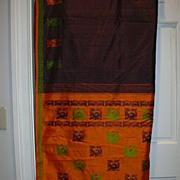 Vintage Indian Sari Eggplant Silk Fine Textiles Fabric of India