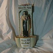 St Teresa Lisieux Figurine Holy Water Font Vase House Blessing