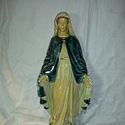 Old Chalk Ware Virgin Mary Statue