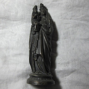 St Anne & Virgin Mary Old French Statue Figurine