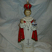 Jesus Infant Of Prague Statue Vase