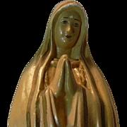 Virgin Mary Our Lady Fatima Chalkware Statue Figurine