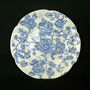 SOLD Johnson Brothers Blue Chippendale Dinner Plates