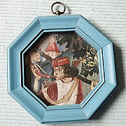 SALE Small Turquoise Octagonal Accent Frame