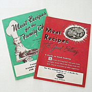SALE Dated 1950's Meat Recipe Booklets