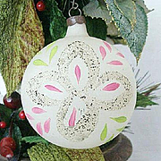 SALE Hand Painted Single Frosted Christmas Ornament