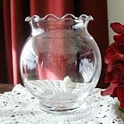 SALE Pretty Ruffled Round Bowl or Vase
