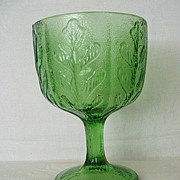 SALE Emerald Green Holiday FTD Compote Dated 1975