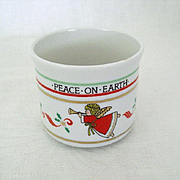 SALE Christmas Cup Proclaims Peace on Earth