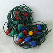 SALE Vintage Noma Christmas Tree Lights In Working Condition