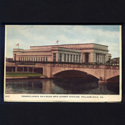 Mid-Century Postcard Philadelphia 30th Street Station