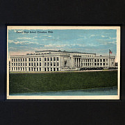 Postcard Features Central High School, Columbus, OH