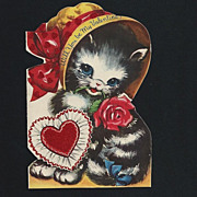 Valentine Wishes From Cute Kitten