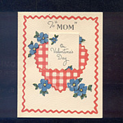 Double Valentine Card For Mom Dated 1945