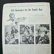 SALE Wartime Full Page Original Ad Prudential Insurance
