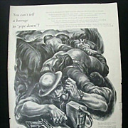 SALE Wartime Full Page Ad for Stromberg-Carlson Original Print