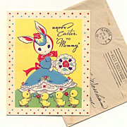Easter Card To Mommy 1944