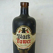SALE German Coated Bottle Black Tower Wine