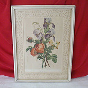 SALE Prevost Floral Print Framed With Paper Lace
