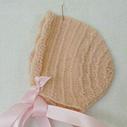 SALE Tiny Pink Hand Made Cap For Infant Or Large Doll
