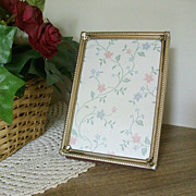 SALE Single Gold Tone Table Top Frame - 1970s