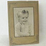 1940s Cardboard Studio Frame Folds Back For Display
