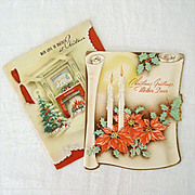 Familiar Holiday Scenes on 1940's Christmas Cards
