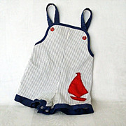 SALE Red Sailboat Highlights Navy/White Toddler Outfit