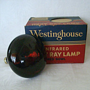 SALE Westinghouse Red Bowl Working Heat Lamp Original Box