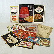 SALE Collection of Ten Vintage Recipe Pamphlets
