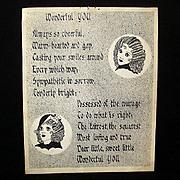 SALE Original Ink Sketch Created As Gift In 1930s