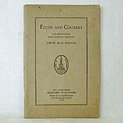 SALE Baltimore Public Schools 1929 Home Economics Booklet
