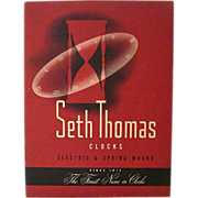 SALE Seth Thomas Catalog 1949 With Stock Price Sheet
