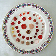 SALE Red and Pink Buttons Collection - All Vintage