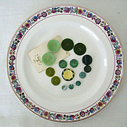 SALE Mid-Century Buttons All Green