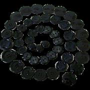 SALE Vintage Black Plastic Buttons Matched Sets