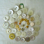 REDUCED Collection Mid-Century Buttons Mostly White