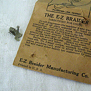 SALE Sewing Machine Braiding Attachment Patented 1927