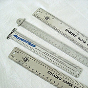 SALE Collection Four Typesetting Line Gauges