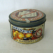 SALE Heinz's Blackberry Round Jelly Tin 1983