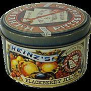 SALE Heinz's Blackberry Round Jelly Tin 1983