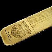 SALE Unusual Brass  Letterpress Type or Line Gauge
