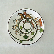 SALE Small Staffordshire Dish With Foxhunt Scene