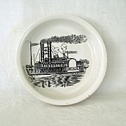 SALE Steamboat Sketch Featured On Small Dish