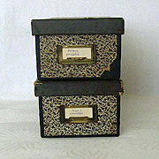 SALE Marbleized Index Card File Boxes