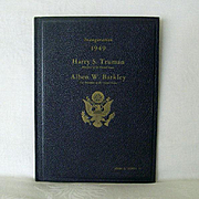 DeLuxe Numbered Edition Truman 1949 Inaugural Program