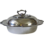 Silverplate Holloware Divided Vegetable Server by LBS Co