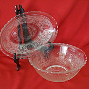 SALE Anchor Hocking Sandwich Glass Serving Dishes